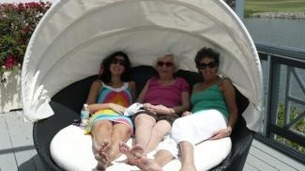 3 generations enjoying the sunbed!