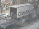 crate and barrel delivery truck
