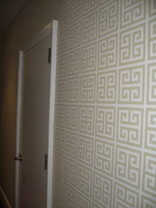 Happy wallpapered wall