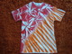 Poppy Red & Brite Orange Stipes & Small Twists