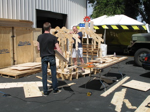 Dan Smithwick & Robert Bridges begin assembly of the Physical Design Co. playhouse