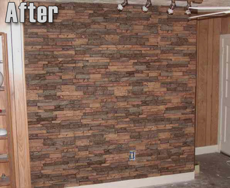 Makemania Home Wall Design With Faux Stone Panels